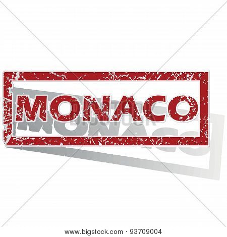 Monaco outlined stamp