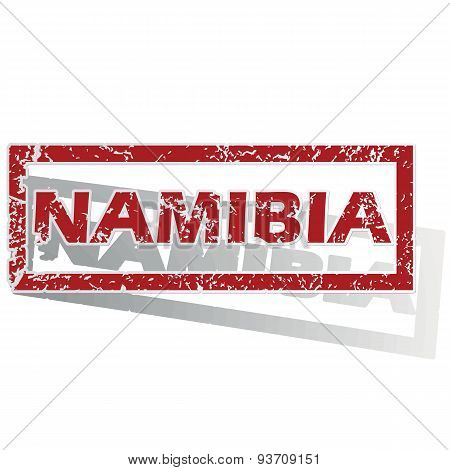Namibia outlined stamp