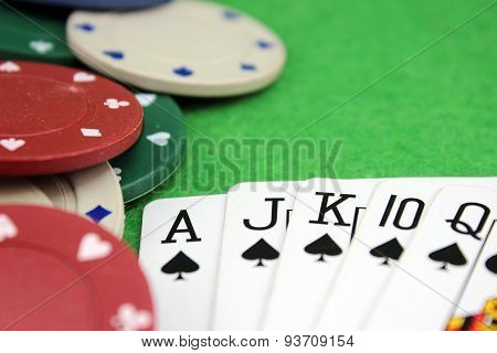 Accented Poker Background