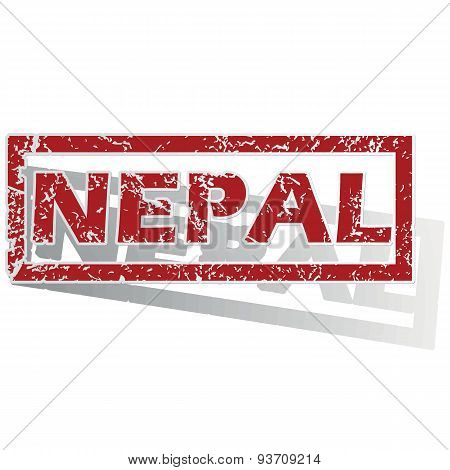 Nepal outlined stamp