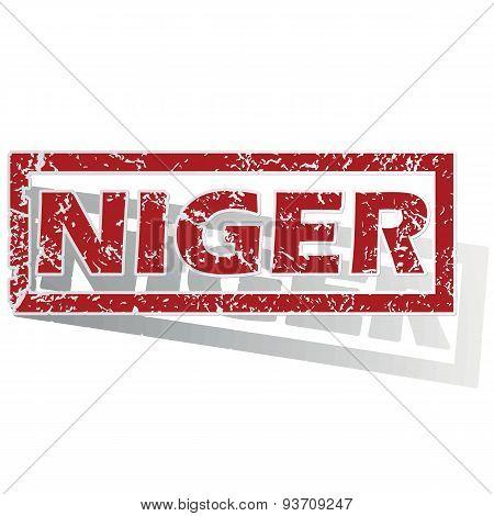 Niger outlined stamp