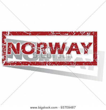 Norway outlined stamp