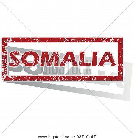 Somalia outlined stamp