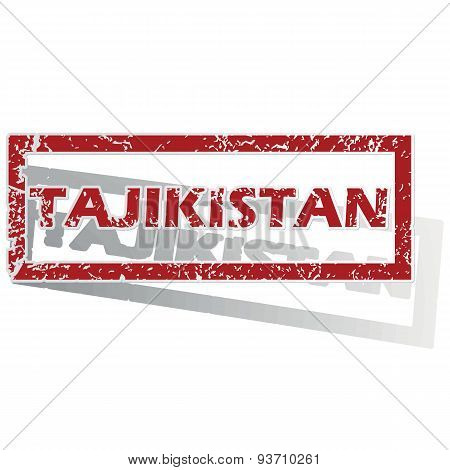 Tajikistan outlined stamp