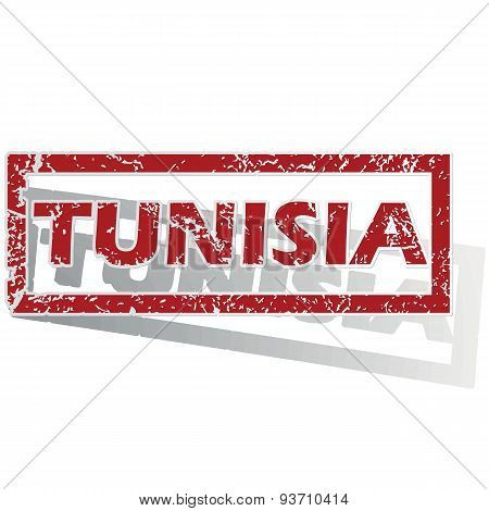 Tunisia outlined stamp