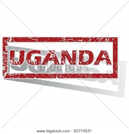 Uganda outlined stamp