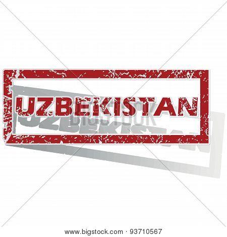 Uzbekistan outlined stamp