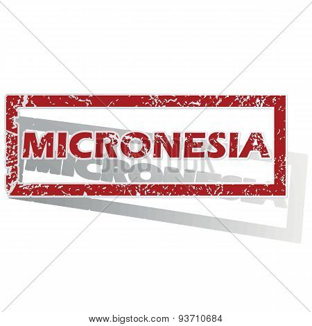 Micronesia outlined stamp