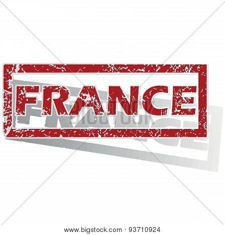 France outlined stamp