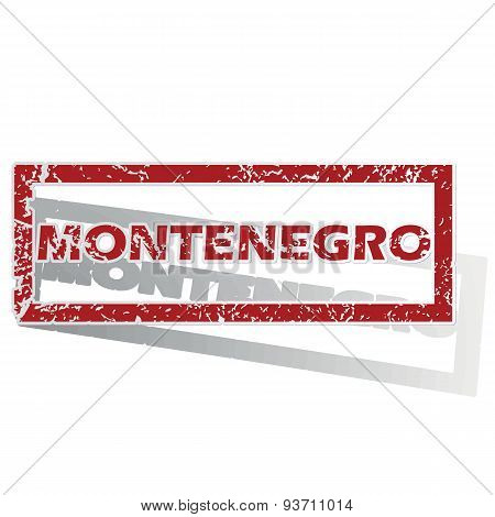 Montenegro outlined stamp
