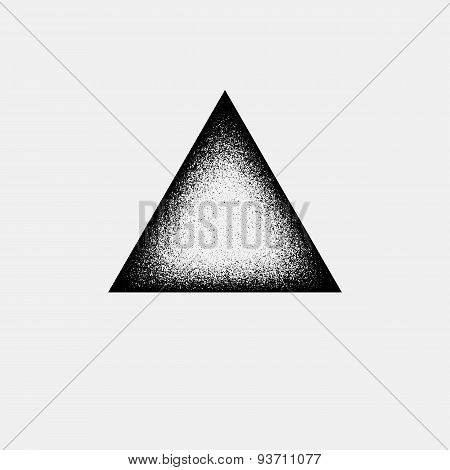 Abstract Triangle Badge