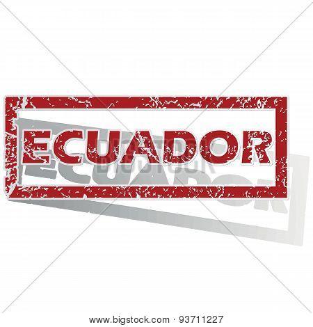 Ecuador outlined stamp