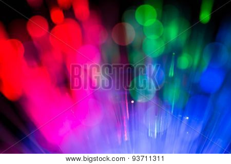 Optical Fibres Abstract Blurred Technology Background
