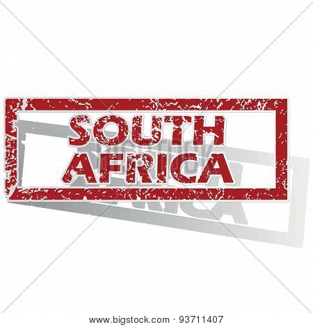 South Africa outlined stamp