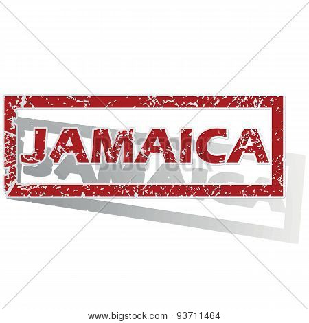 Jamaica outlined stamp