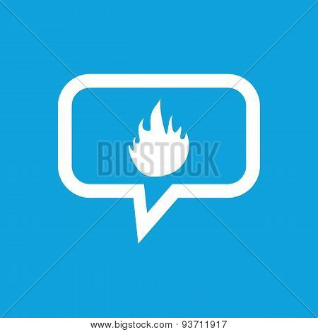 Fire message icon