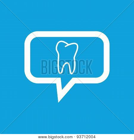 Tooth message icon