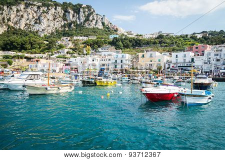 Sorrento, Italy - July 15: View of the town of Sorrento.