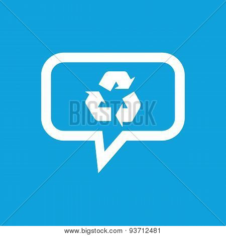 Recycle message icon
