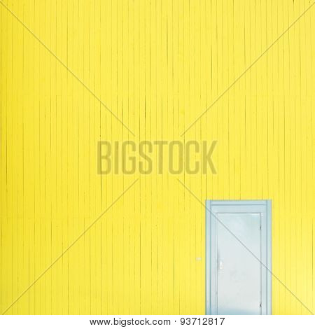 Yellow wall with door
