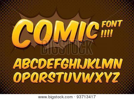 Vector of comic alphabets