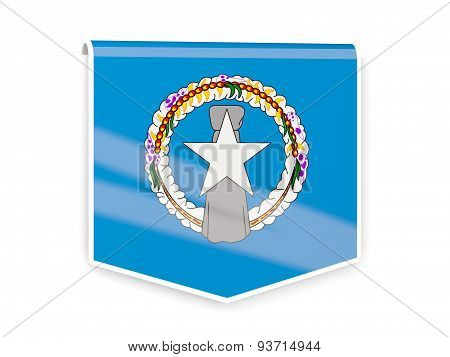 Flag Label Of Northern Mariana Islands