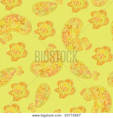Floral Seamless Pattern. Beautiful floral oriental background.