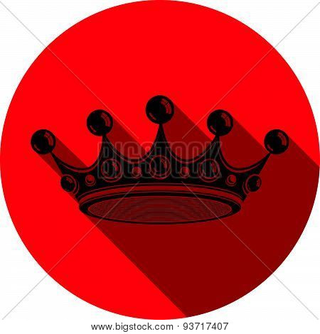 Royal design element, regal icon. Stylish majestic 3d crown, luxury coronet illustration. Imperial