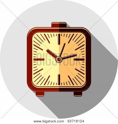 Wake up idea illustration. Classic 3d alarm-clock isolated on white. Table clock.