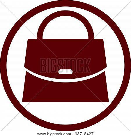 Woman purse vector icon.