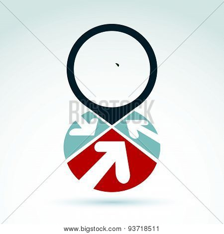 Vector infinity icon. Illustration of an eternity symbol placed on red heart, love forever concept.
