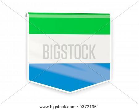 Flag Label Of Sierra Leone
