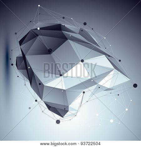 Modern digital technology style, abstract scientific background, vector futuristic complicated 3d fi