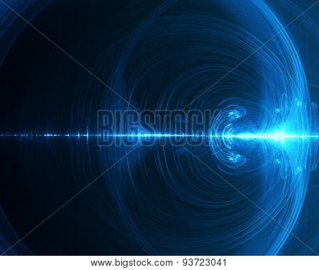 Abstract Background In Blue Tones On Black Tone