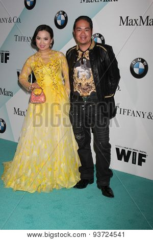 LOS ANGELES - JUN 16:  Ha Phuong, Alan Ford at the Women In Film 2015 Crystal + Lucy Awards at the Century Plaza Hotel on June 16, 2015 in Century City, CA