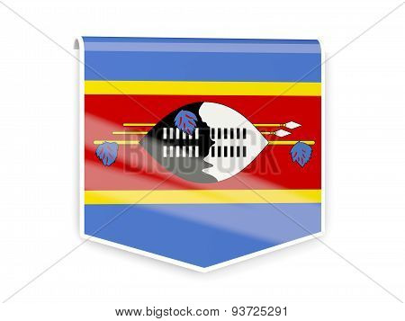 Flag Label Of Swaziland