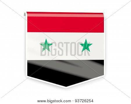 Flag Label Of Syria