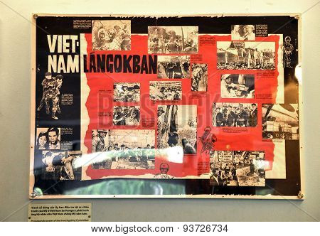 Propaganda Poster Of The Budapest Patriotic Front, Supporting Vietnam Against The Us