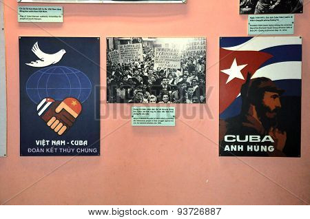 Propaganda Poster Of The People Of Havana (cuba), Supporting Vietnam Against The Us