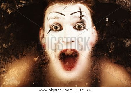 Scary Face Screaming Mime