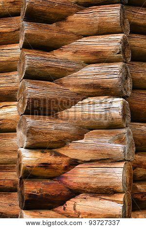 Corner Of Log House
