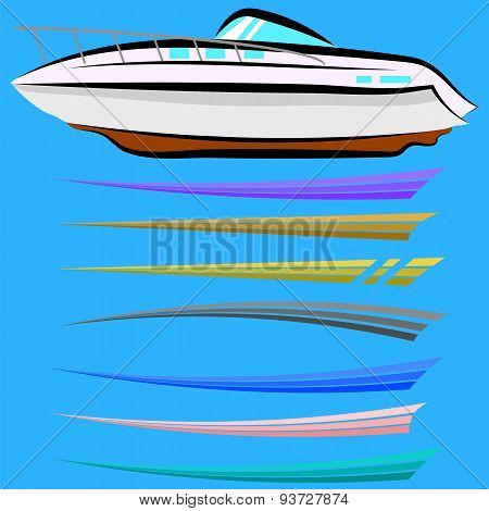 Set of Boat Graphics