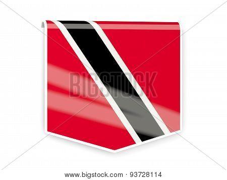 Flag Label Of Trinidad And Tobago
