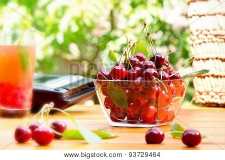 Summertime With Red Cherry
