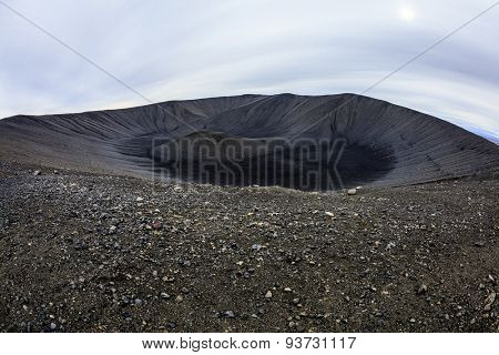 Top of the Hverfjall crater in Northern Iceland