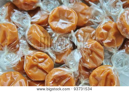 wrapped toffee caramel