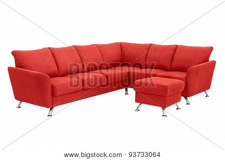 Red Corner Sofa.