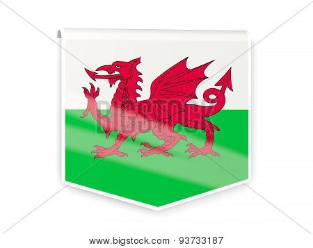 Flag Label Of Wales
