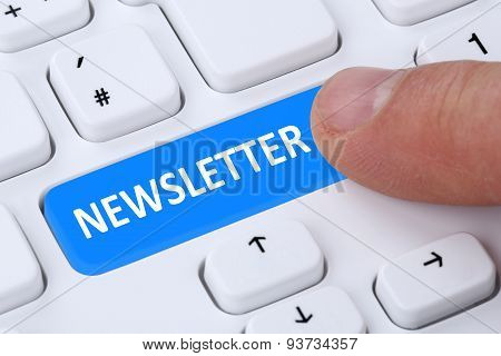 Subscribing Newsletter On Internet For Business Marketing Campaign