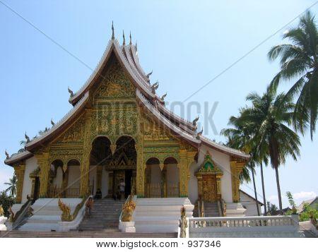 Temple In Laos